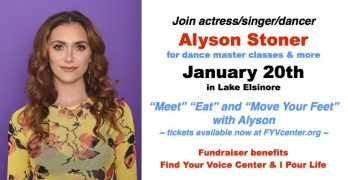 Meet, Eat & Move Your Feet with Alyson Stoner January 20th